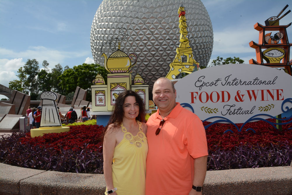 David and I at the 2017 Epcot Food and Wine festival