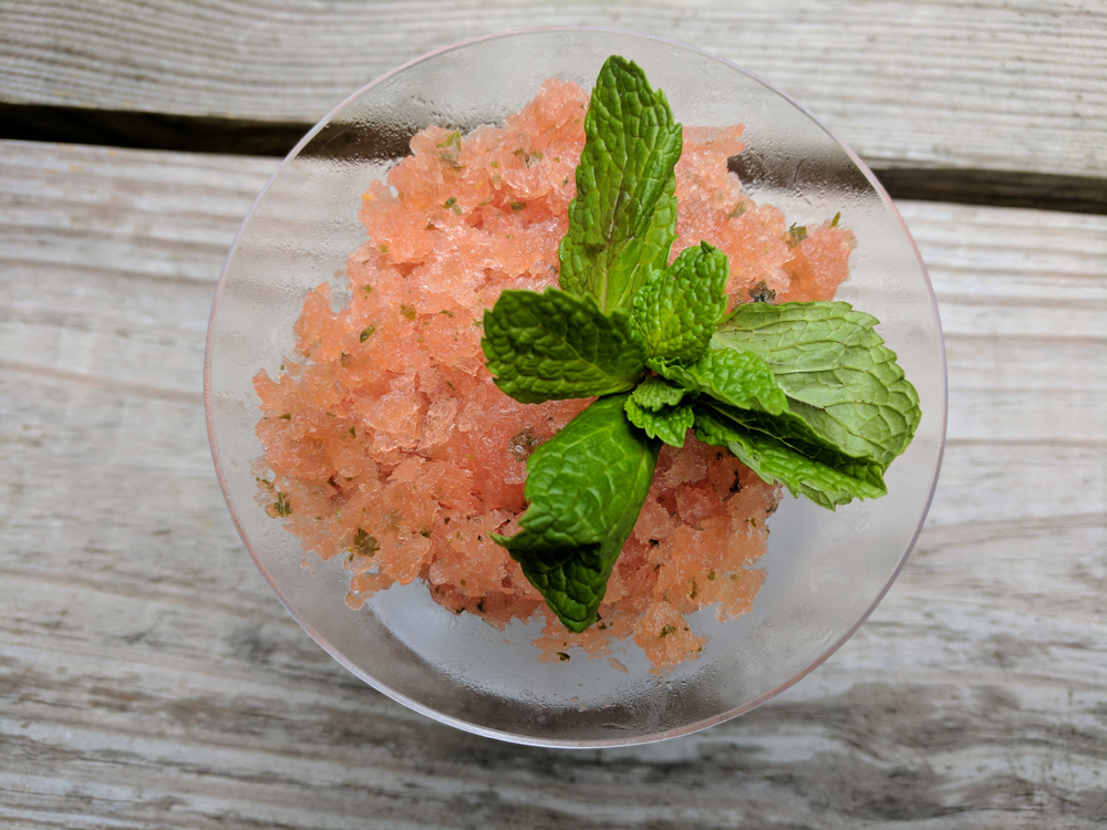 Minted Watermelon Granita