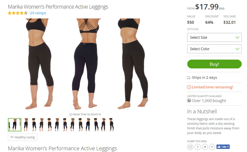 Marika Yoga Pants Groupon Goods - Cheap Fitness Gear