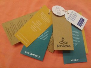 prAna's clothing is sustainably made with organic cotton and hemp using Fair Trade certified labor.