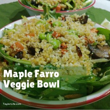 Maple Farro Veggie Bowl