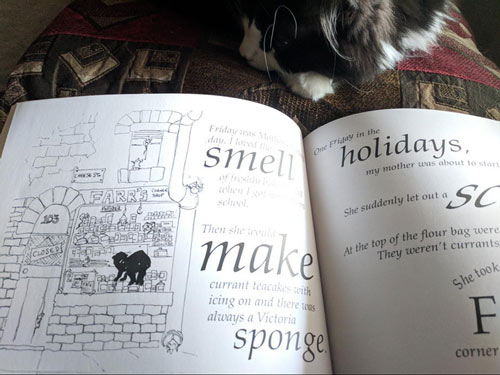 Look at the charming drawings and lettering style!