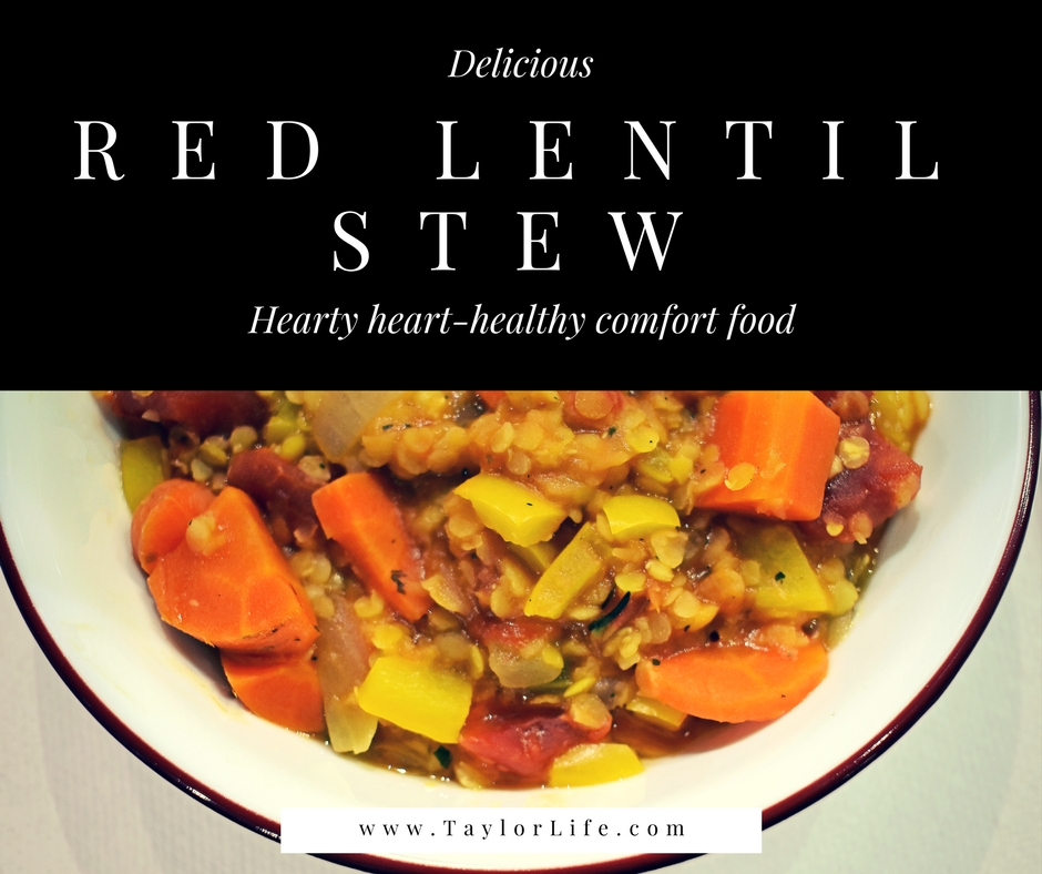 Red lentil stew a heart healthy dash diet comfort food taylorlife red lentil stew flavorful and filling this low sodium soup is perfect star forumfinder Gallery