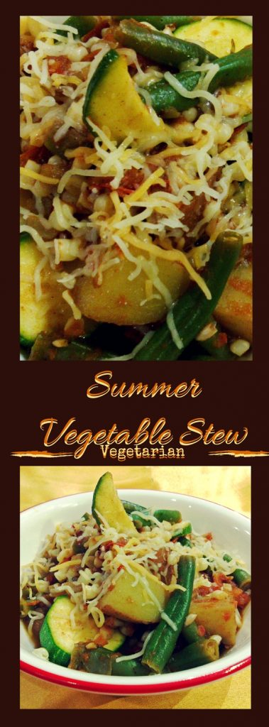 Summer Vegetable Stew with Cinnamon and Cloves. Your mouth will be watering before it's done cooking. Thank goodness this vegetarian stew cooks fast.