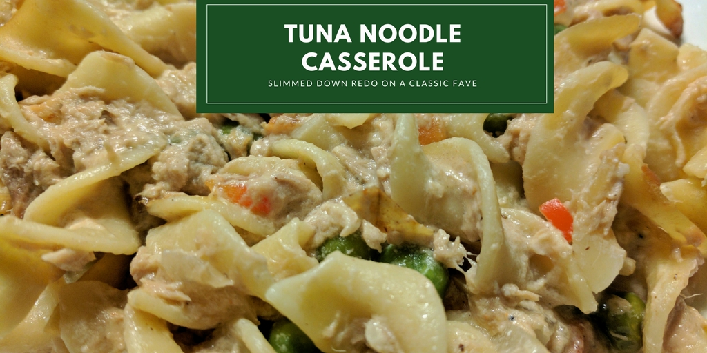 I created this tuna casserole when I was craving a childhood comfort food. Unlike the throwback recipe, this version doesn't rely on condensed soup. While the sauce is made from scratch, this tuna noodle casserole recipe is still super easy and surprisingly delicious.
