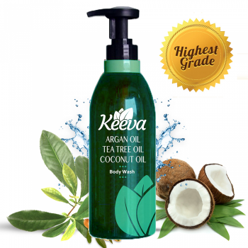 Keeva Body Wash with Tea Tree, Coconut, and Argan Oil