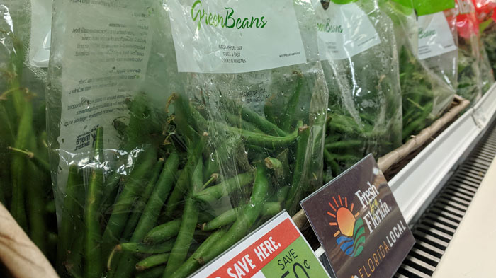 Fresh from Florida Snap Beans on Display at Publix