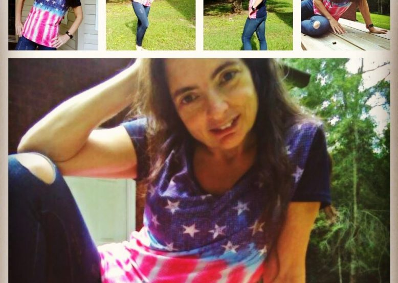 Feeling like an All-American girl in my USA Flag shirt and distressed leggings.