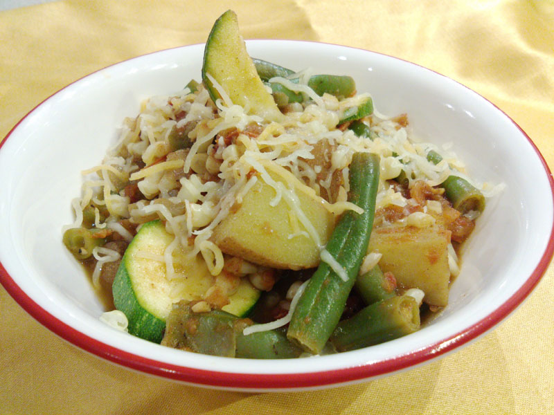 Succulent Summer Stew uses surprise ingredients - cloves and cinnamon - to bring out the flavors of the vegetables.
