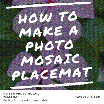 How to Make a Photo mosaic placemat