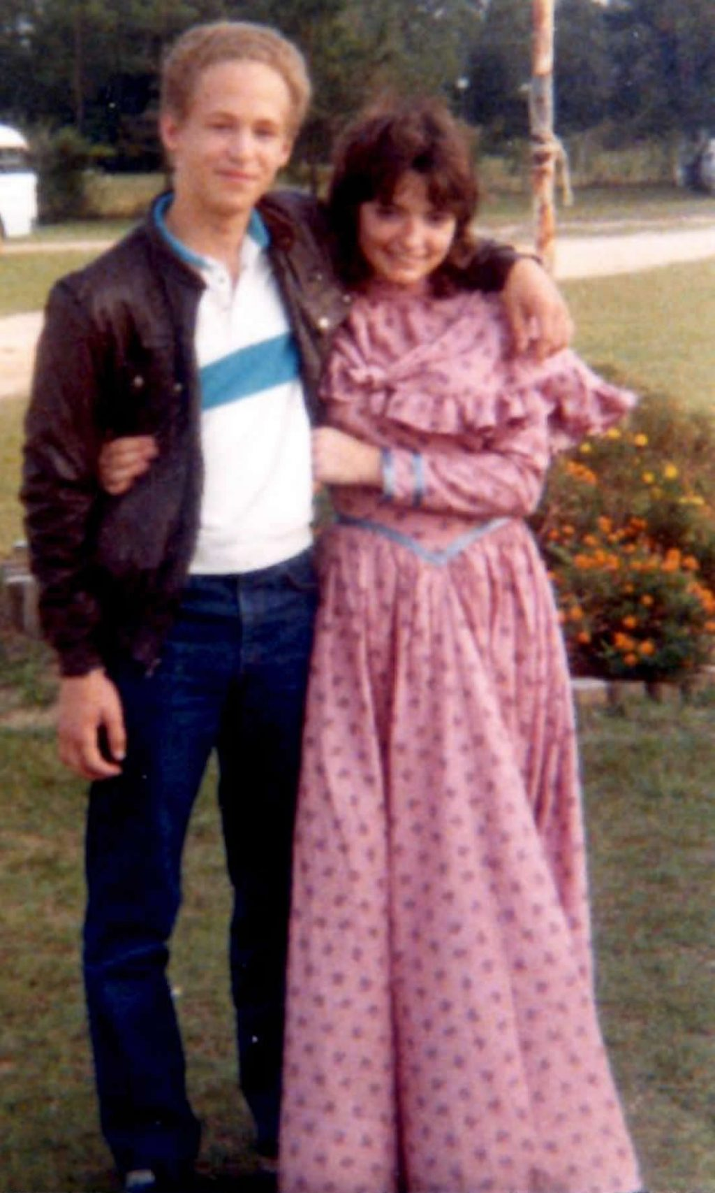 David and I dated in high school. My mom snapped this photo at a church event where we were supposed to dress up as pioneers.